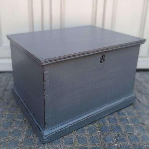 Early Victorian Painted Mahogany Box3
