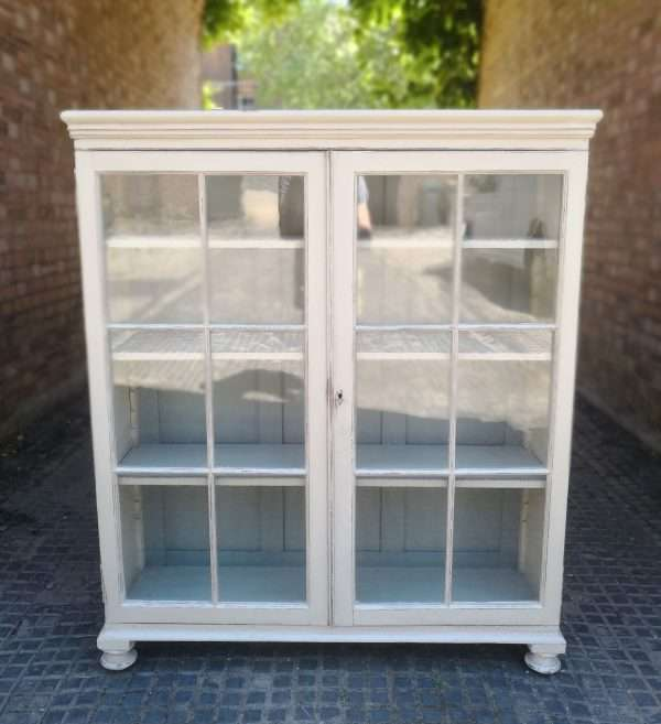 Victorian Painted Pine Glazed Bookcase SOLD – Ref:1407