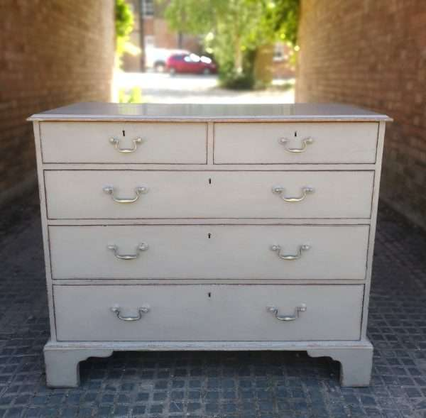 Georgian Painted Mahogany 5 Drawer Chest SOLD – Ref:1406