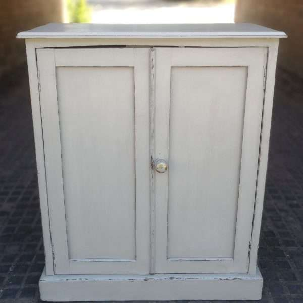 Early Victorian Painted Mahogany Cupboard