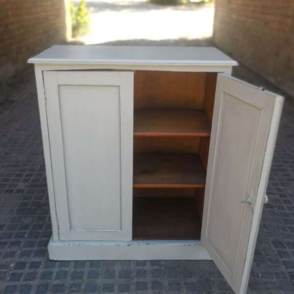 Early Victorian Painted Mahogany Cupboard3