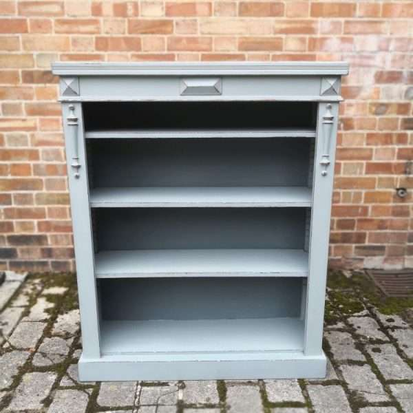Edwardian Painted Mahogany Bookcase2
