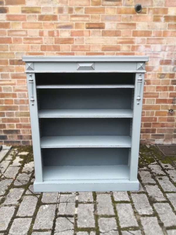 Edwardian Painted Mahogany Bookcase £285 – Ref:1434