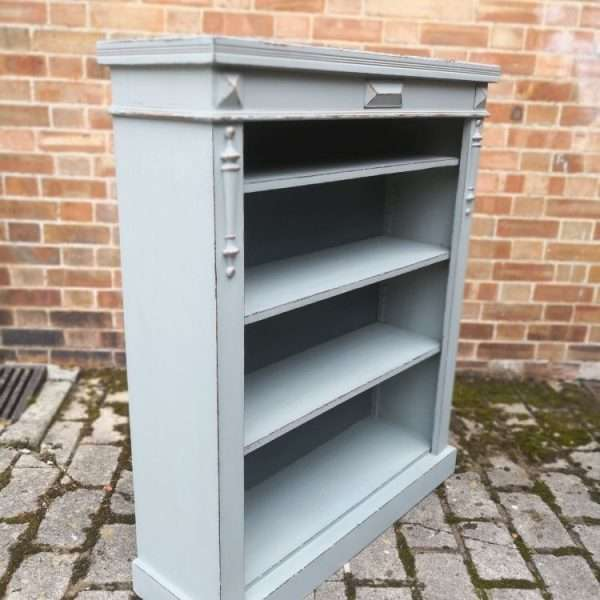 Edwardian Painted Mahogany Bookcase1