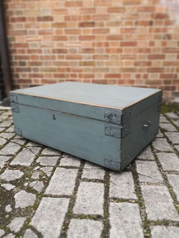 19th Century Painted Pine Storage Box SOLD – Ref:1432