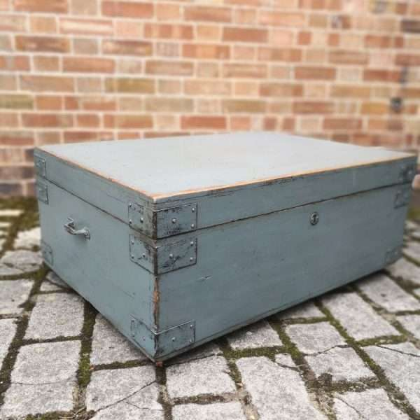 19th Century Painted Pine Storage Box 3