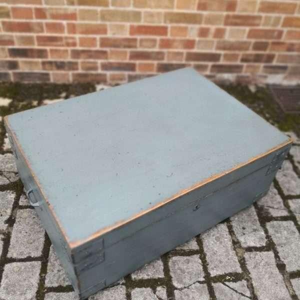 19th Century Painted Pine Storage Box 2