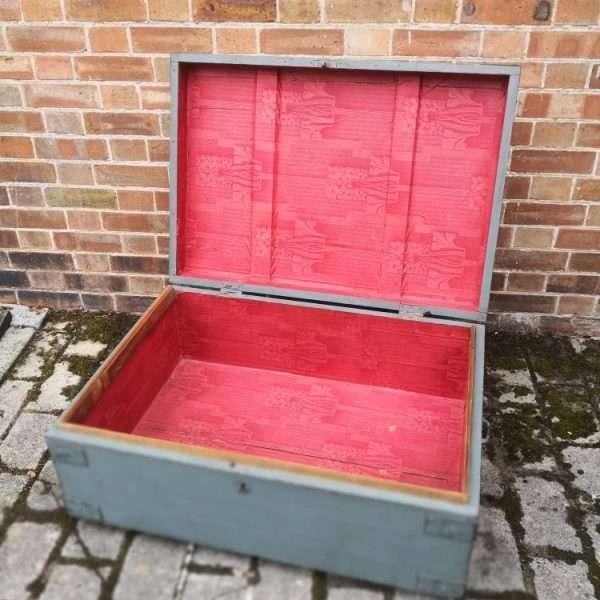 19th Century Painted Pine Storage Box 1