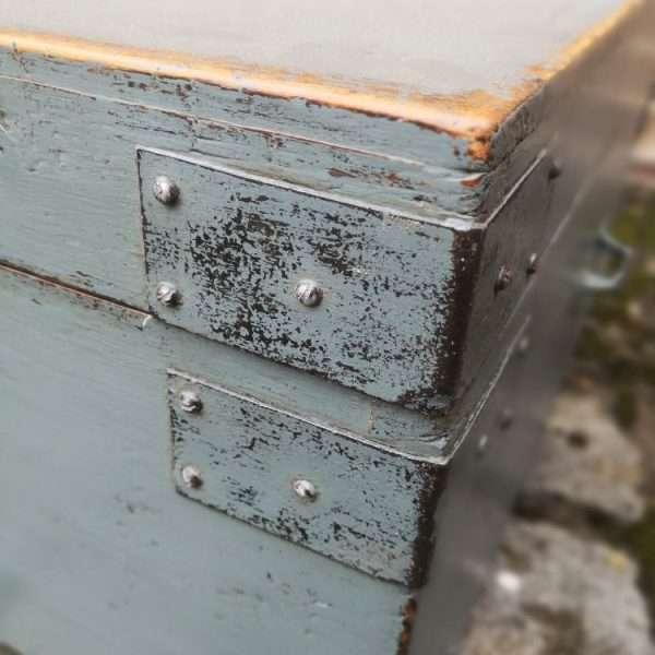19th Century Painted Pine Storage Box
