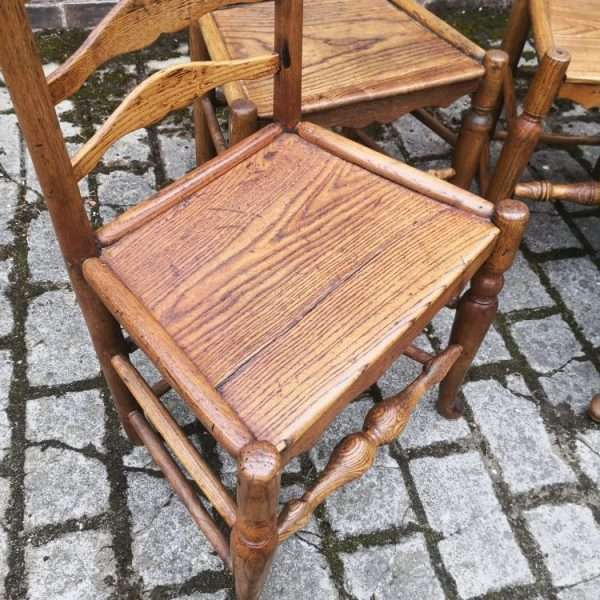 Set Of 4 Oak North Country Ladderback Chairs2
