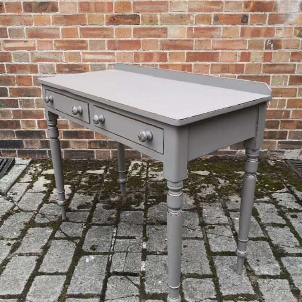 19th Century Painted Mahogany Two Drawer Writing Desk1
