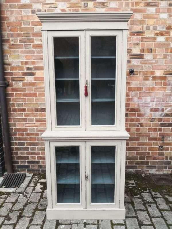 Edwardian Painted Walnut Double Glazed Cabinet SOLD – Ref:1423