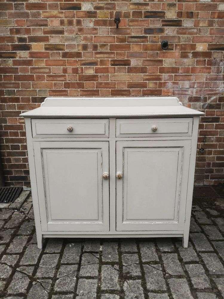 Edwardian Painted Oak Cottage Dresser Base3