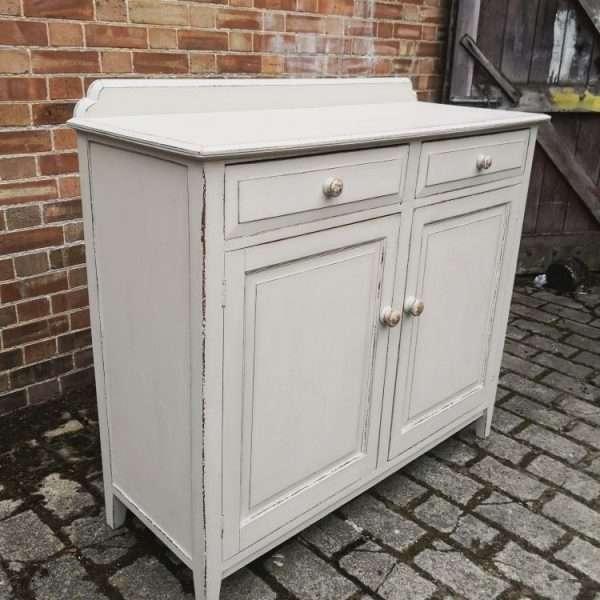 Edwardian Painted Oak Cottage Dresser Base2