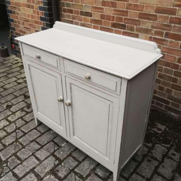 Edwardian Painted Oak Cottage Dresser Base