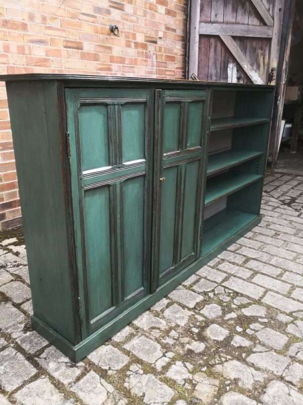 Arts & Crafts Painted Oak Side To Side Bookshelves SOLD – Ref:1420