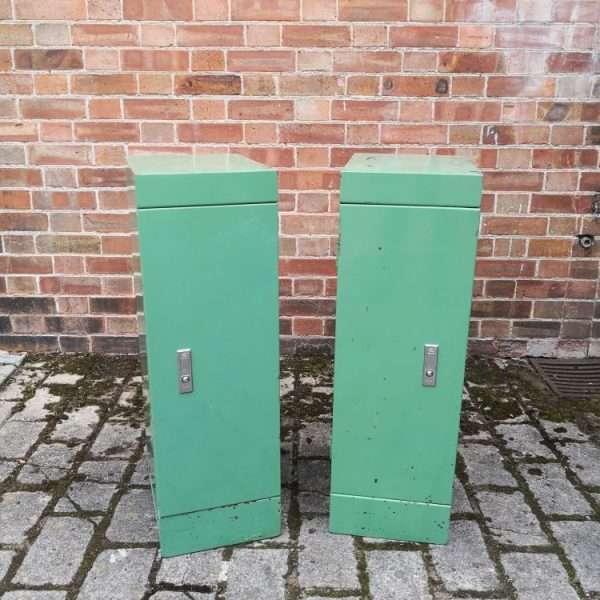 Pair Of Vintage Industrial Bedside Cabinets 5