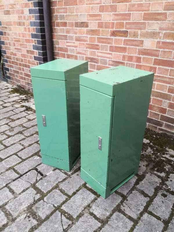 Pair Of Vintage Industrial Bedside Cabinets SOLD – Ref:1417