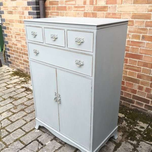 1920's Sheraton Style Chest Cupboard1