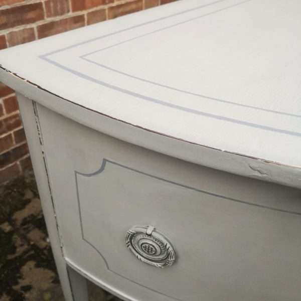 George III Half Round Painted Sideboard2