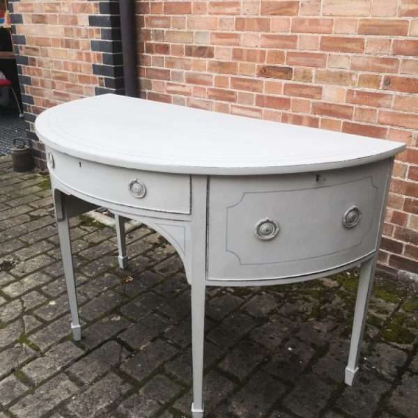 George III Half Round Painted Sideboard3