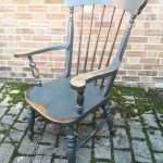Late 19th Century Painted Elm Grandfather Chair SOLD- Ref:1440