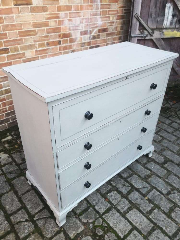 Early 19th Century Painted Mahogany Lancashire Blanket Chest1