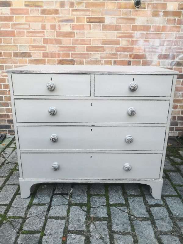 Early 19th Century Painted Mahogany Chest Of Drawers £375 – Ref:1436