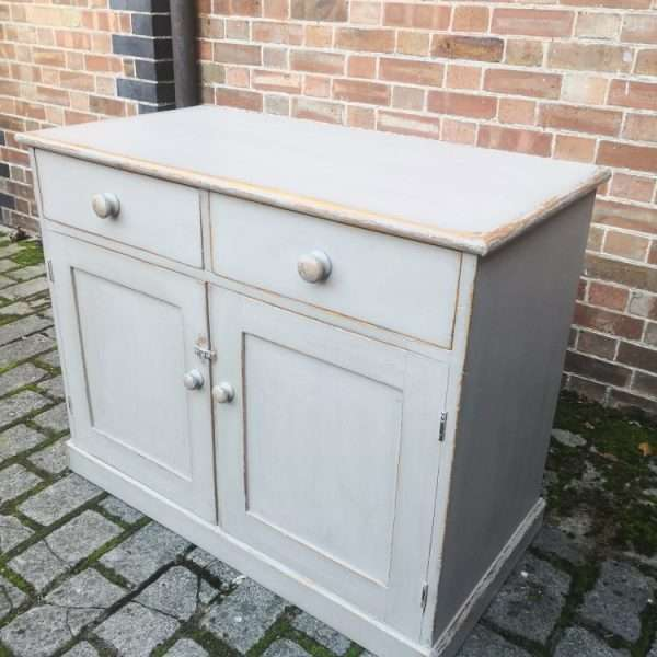 Mid 19th Century Painted Pine Dresser Base3