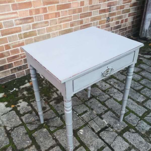 Early Victorian Painted Mahogany Side Table1