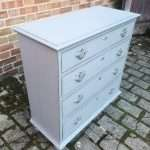 Queen Anne Style Painted Oak Chest Of Drawers SOLD – Ref:1441